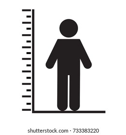 Man tall scale icon. Vector Illustration