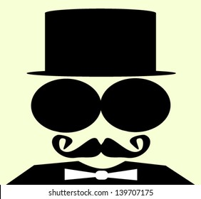 man with top hat and large sunglasses
