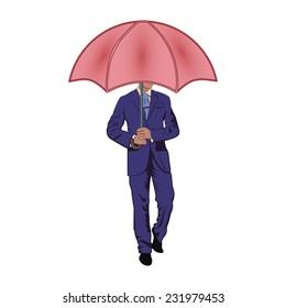 man under the umbrella man under the umbrella