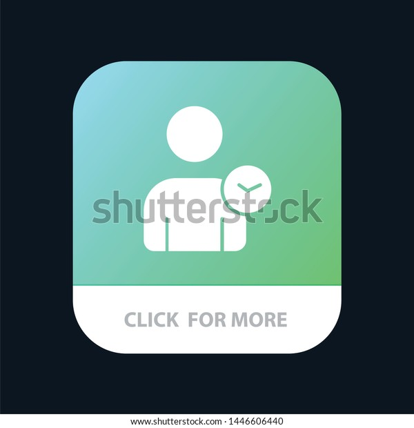 Man User Time Basic Mobile App Stock Vector (Royalty Free) 1446606440