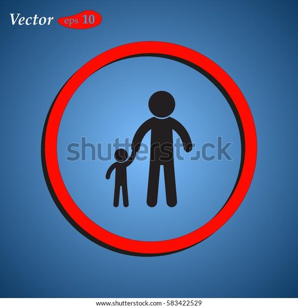 Man vector icon. Web design style.