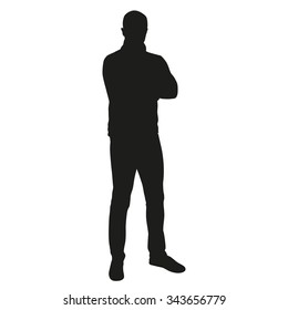 Man vector silhouette