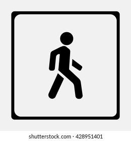 Man walk icon.