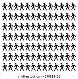 Man walk icon stick
