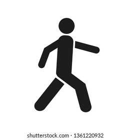 Man walk icon . Walking man vector icon. People walk sign illustration. pedestrian vector sign symbol on white background