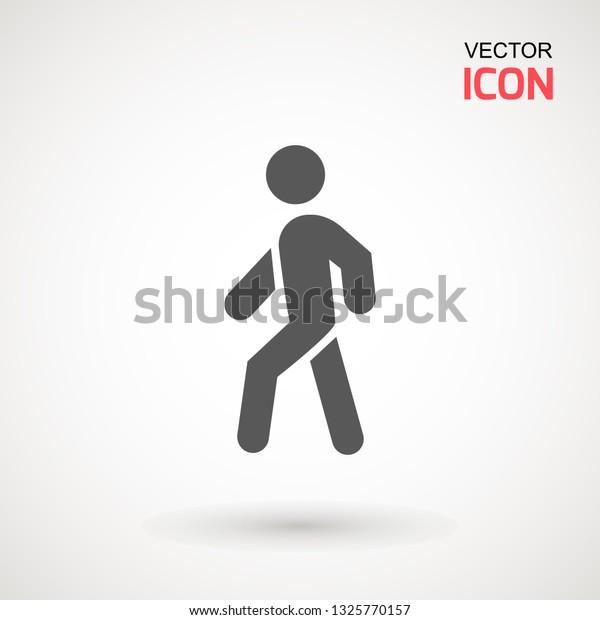 man walk icon walking man vector stock vector royalty free 1325770157 https www shutterstock com image vector man walk icon walking vector people 1325770157