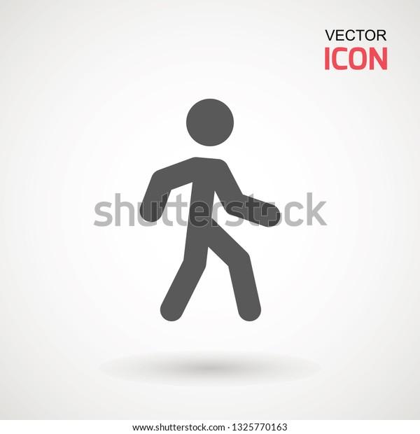 man walk icon walking man vector stock vector royalty free 1325770163 shutterstock