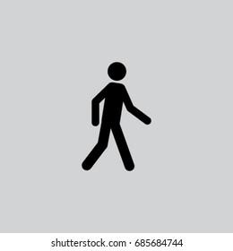 Man is walking icon, pedestrian vector illustration