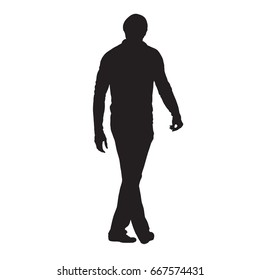 Man walking vector silhouette