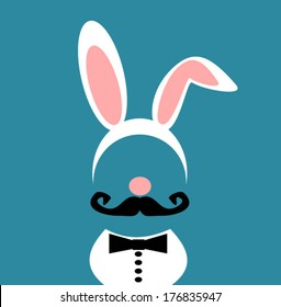 man wearing bunny costume with bow tie