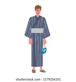 A man wearing a yukata