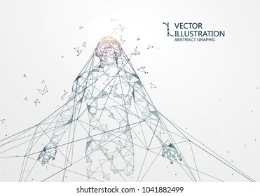 A man who has rushed out of the net,Network connection turned into, vector illustration.