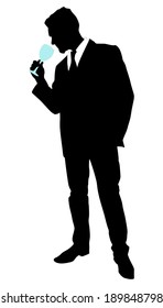 man with wine glass, vector