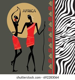 Man and woman Africa