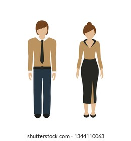 man and woman character in a chic outfit isolated on white background vector illustration EPS10