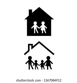 Parents Protecting Children Stock Illustrations Images Vectors