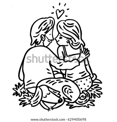 Man Woman Dog Vector Graphic Art Stock Vector (Royalty Free ... 10ef26401e