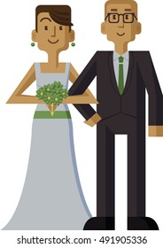 A man and woman are getting married