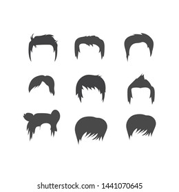 man and woman hairstyle icon vector element illustration design