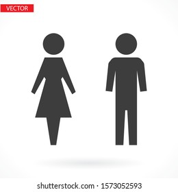 man and woman icon flat vector stock illustration