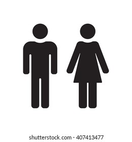 Man, Woman  icon,  isolated. Flat  design.