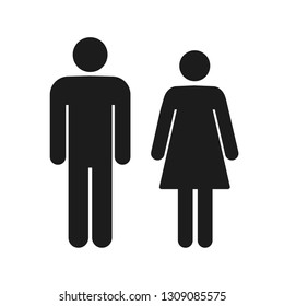 Man and woman icon on isolated background. Modern flat pictogram. Simple flat symbol for web site design – vector