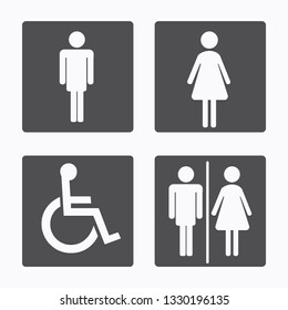 Man and woman icon for toilet sign, Vector illustration.