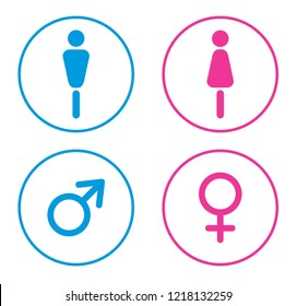 Man and Woman icon vector.