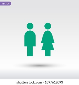 Man and woman icon. Vector illustration EPS 10.