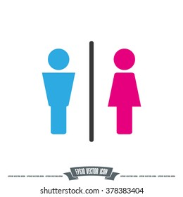 Man and Woman icon vector illustration eps10.