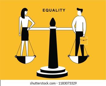 Man and Woman on Balance