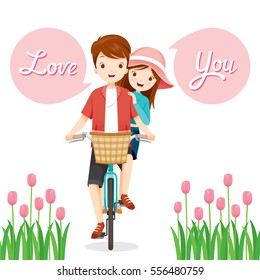 Man And Woman On Bicycle Together, Valentine's Day, Love, Relationship, Sweetheart, Engagement, Wedding