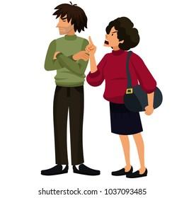 man and woman quarrel vector