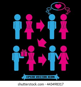 man and woman set icon vector illustration eps10.