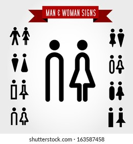 man and woman signs, concept of symbols