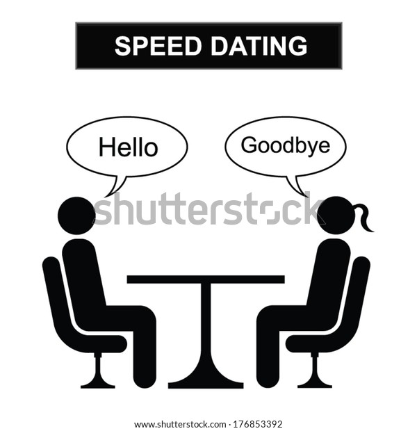 Man Woman Speed Dating Cartoon Isolated Stock Vector Royalty Free 176853392