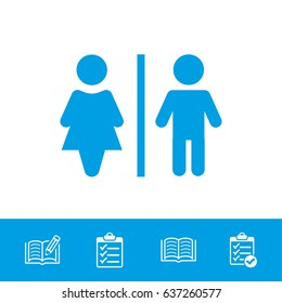 Man and woman toilet vector icon