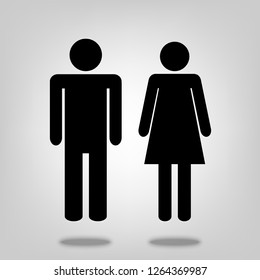 Man and woman vector icon illustration for graphic design, logo, web site, social media, mobile app, ui
