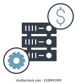 Managed cost effective Web Server Vector hassle free Icon Design