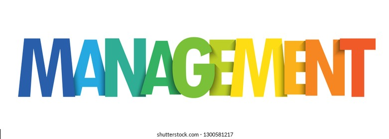 MANAGEMENT colorful typography banner