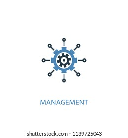 management concept 2 colored icon. Simple blue element illustration. management concept symbol design from management set. Can be used for web and mobile UI/UX