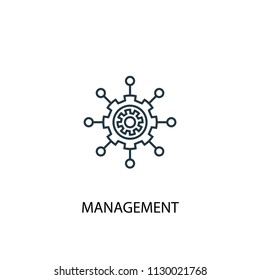 management concept line icon. Simple element illustration. management concept outline symbol design from Management set. Can be used for web and mobile UI/UX