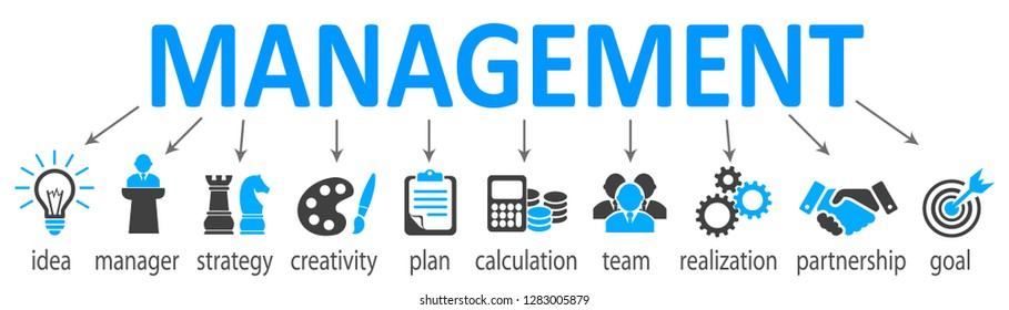 Management concept system – stock vector