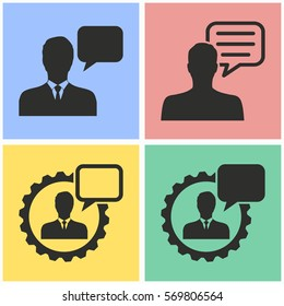 Management consulting vector icons set. Black illustration isolated for graphic and web design.