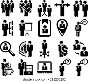 Management and human resource 20 icons