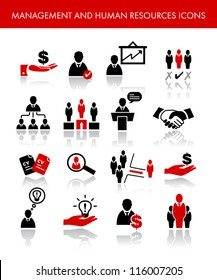 Management And Human Resources Icons