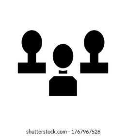 management  icon or logo isolated sign symbol vector illustration - high quality black style vector icons