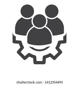 management Icon. Teamwork management icon vector