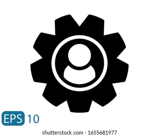 Management solid style Icon Vector on white background. EPS 10