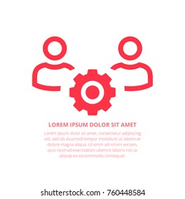 Management Vector Icon. Collaboration icon, organization sign, team workforce symbol. Planning icon. Workforce management